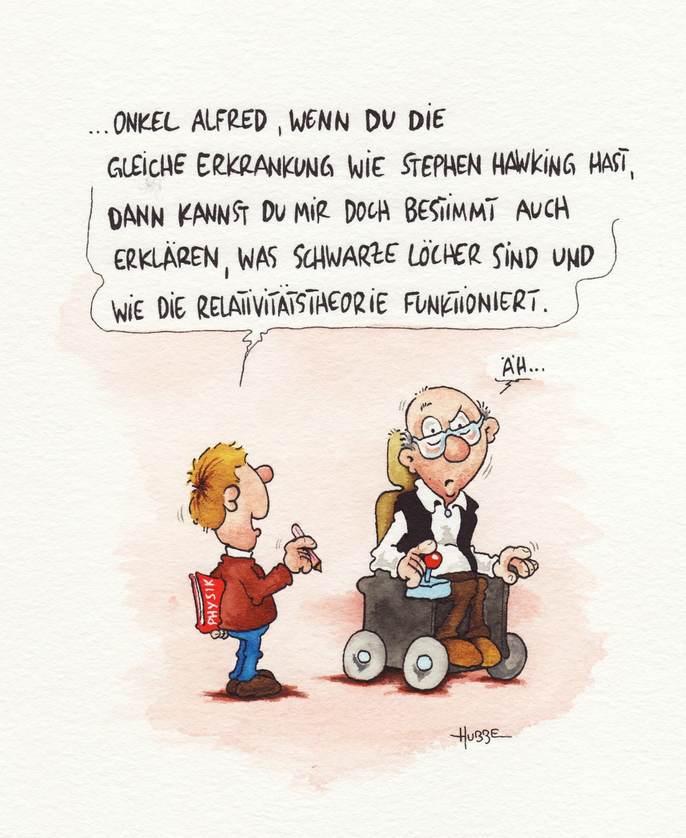Cartoon ALS von Phil Hubbe